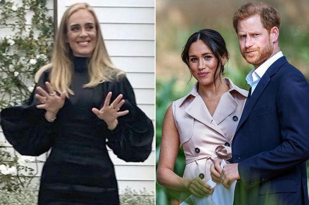 Photo of Meghan Markle and Prince Harry get Hollywood advice from Adele