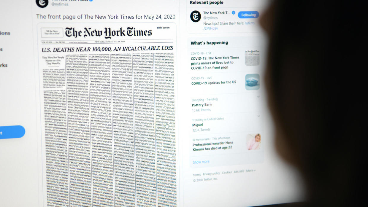 Photo of New York Times marks grim Covid-19 milestone with 1,000 obituaries