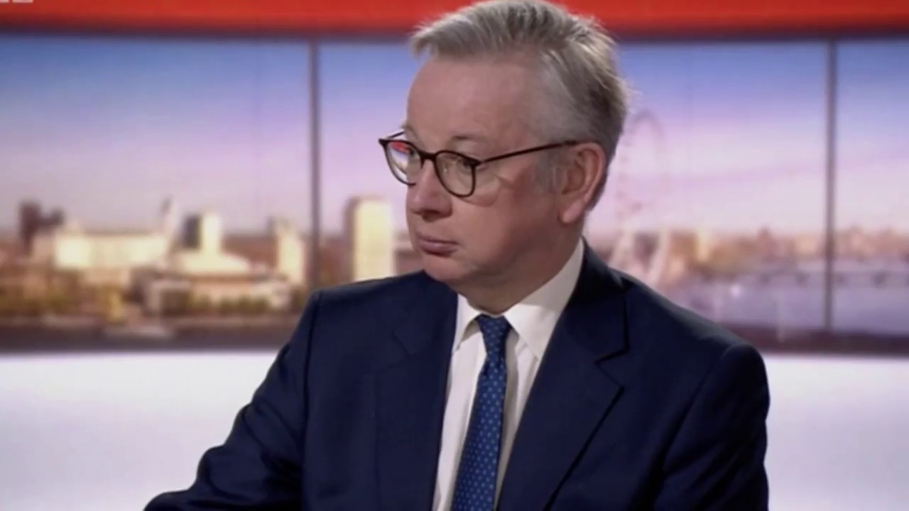 Photo of Gove squirms as he's forced to admit teachers are at risk of catching coronavirus