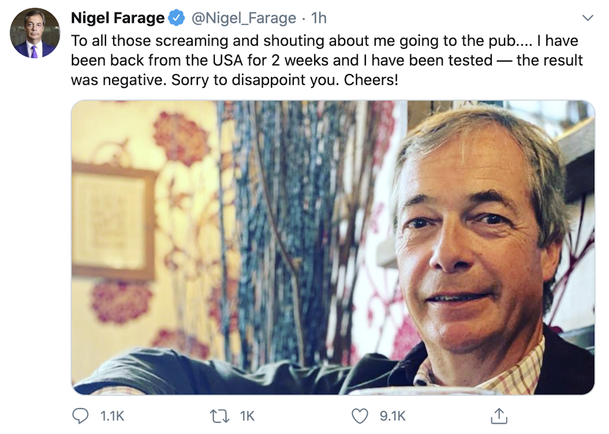 Photo of Nigel Farage SILENCES critics as trolls hit out at Brexiteer for Super Saturday pub visit