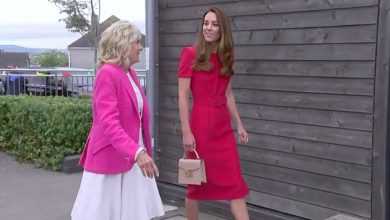Photo of The Duchess of Cornwall looks 'effortlessly lovely' in summer dress at G7 reception