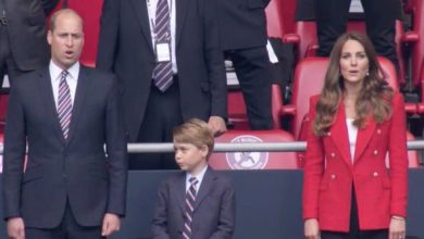 Photo of 'Never out of style': Kate Middleton stuns in red Zara blazer & £375 earrings at Euro 2020