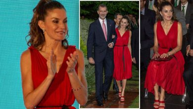 Photo of Queen Letizia stuns in red dress as she embraces natural colour – 'relatable royal'
